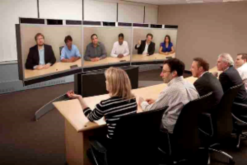 picture of a video conference