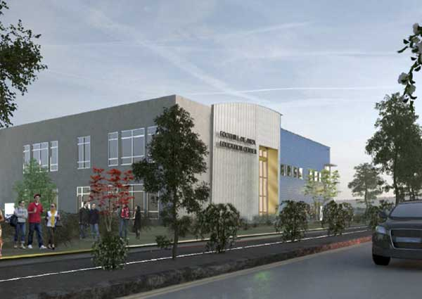 artist rendering of new Foothill Sunnyvale site